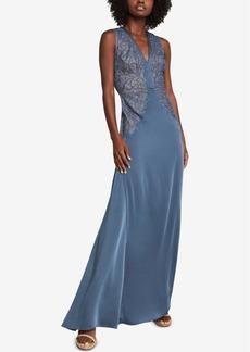 BCBG Max Azria Bcbgmaxazria Lace-Embroidered Satin Gown