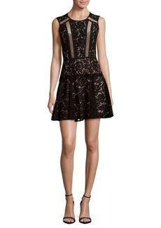 BCBGMAXAZRIA Lace Fit-&-Flare Dress