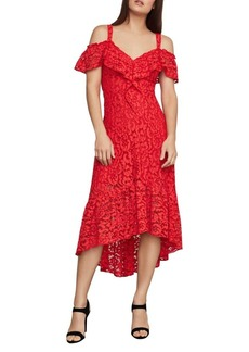 BCBG Max Azria BCBGMAXAZRIA Lace Flared High-Low Dress