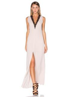 BCBG Max Azria BCBGMAXAZRIA Lace Front Maxi Dress