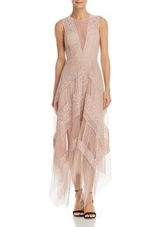 BCBGMAXAZRIA Lace Illusion Dress