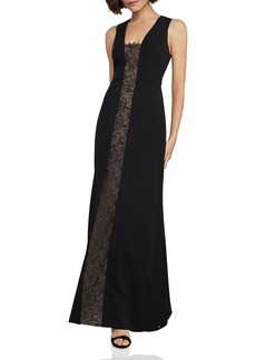 BCBG Max Azria BCBGMAXAZRIA Lace-Inset Fit-and-Flare Gown