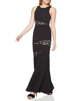 BCBGMAXAZRIA Lace-Inset Gown