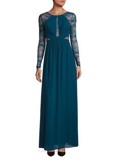 BCBG Max Azria BCBGMAXAZRIA Lace Long Sleeve Gown