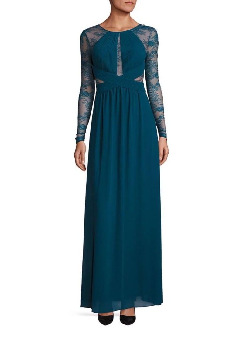 Bcbgmaxazria Lace Long Sleeve Gown