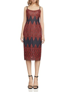 BCBGMAXAZRIA Lace Midi Dress