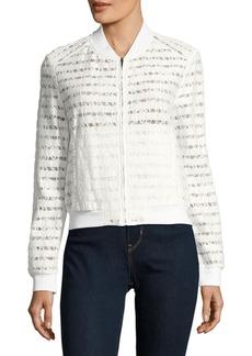 BCBG Max Azria BCBGMAXAZRIA Lace-Paneled Jacket
