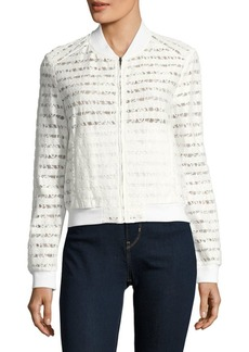 BCBG Max Azria Lace-Paneled Jacket