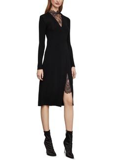 BCBG Max Azria Bcbgmaxazria Lace-Trim Midi Dress