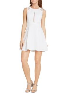 BCBGeneration Lace-Trimmed Fit-&-Flare Dress