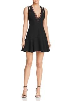 BCBG Max Azria BCBGMAXAZRIA Lace-Trimmed Mini Dress