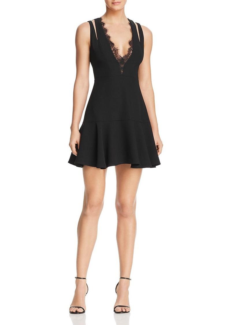 39557b1aaf44 On Sale today! BCBG Max Azria BCBGMAXAZRIA Lace-Trimmed Mini Dress