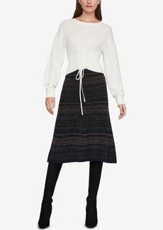 BCBG Max Azria Bcbgmaxazria Lace Up Crop Sweater