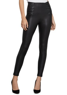 BCBG Max Azria Bcbgmaxazria Lace-Up Faux-Leather Leggings