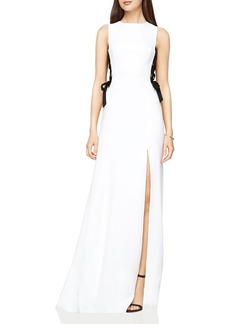 BCBGMAXAZRIA Lace-Up Gown