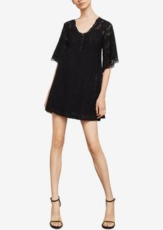 BCBG Max Azria Bcbgmaxazria Lace-Up Lace Shift Dress