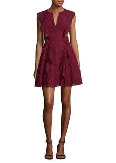 BCBGMAXAZRIA Laced Fit-&-Flare Dress