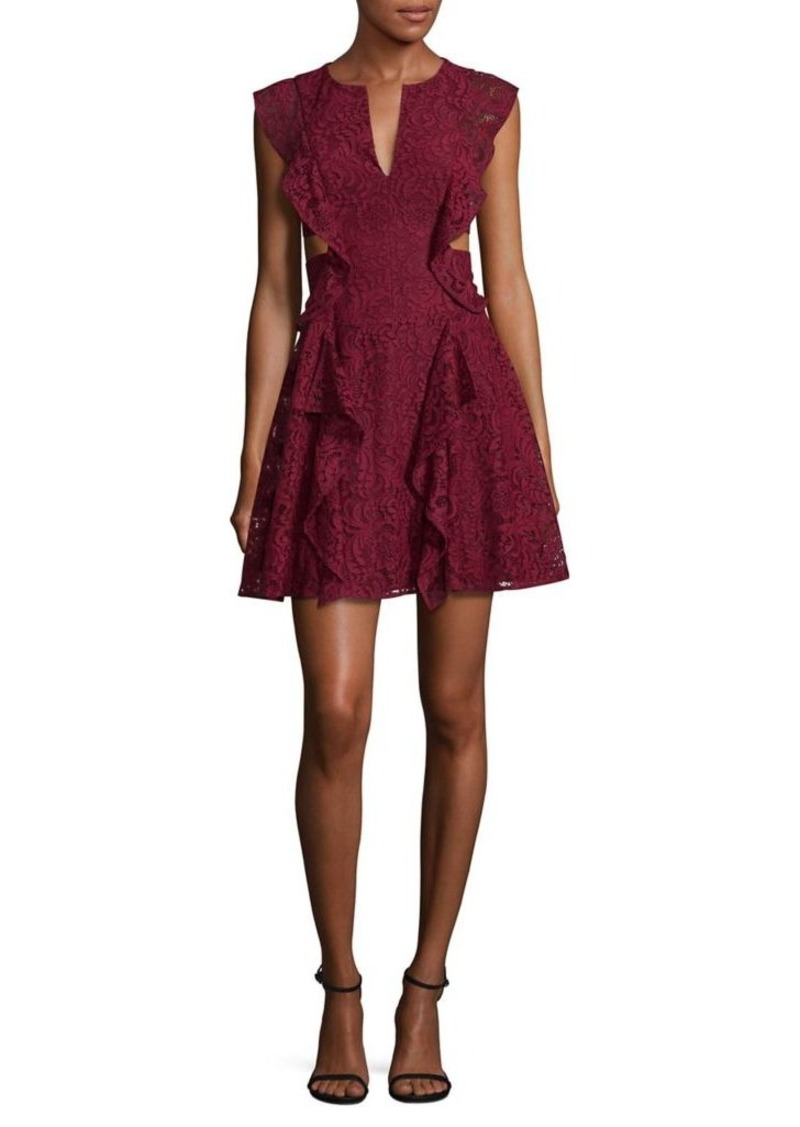 48e1f73d06f SALE! BCBG Max Azria BCBGMAXAZRIA Laced Fit- -Flare Dress