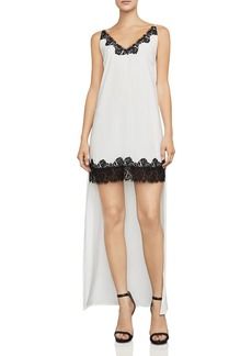 BCBGMAXAZRIA Lake Lace-Trim High/Low Dress