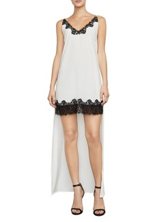 BCBG Max Azria BCBGMAXAZRIA Lake Lace-Trimmed Hi-Lo Shift Dress