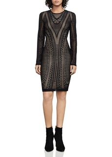 BCBGMAXAZRIA Lala Geometric Lace Dress