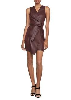 BCBG Max Azria BCBGMAXAZRIA Layla Asymmetrical Pleather Dress
