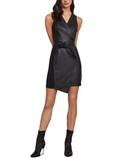 BCBG Max Azria Bcbgmaxazria Layla Faux-Leather Sheath Dress