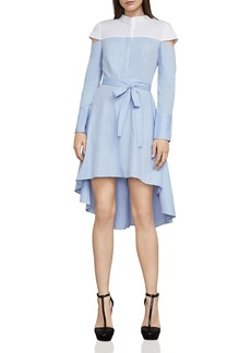 BCBG Max Azria BCBGMAXAZRIA Leandra Color-Block Shirt Dress