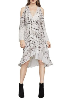 BCBG Max Azria Leeam Cold-Shoulder Wrap Dress