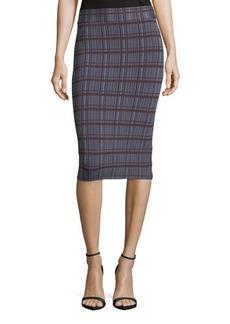BCBG Max Azria BCBGMAXAZRIA Leger-Plaid Knit Pencil Skirt