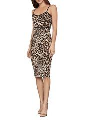 BCBG Max Azria BCBGMAXAZRIA Leopard-Print Sheath Dress