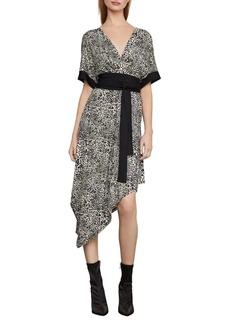 BCBG Max Azria BCBGMAXAZRIA Leopard-Print Wrap Dress