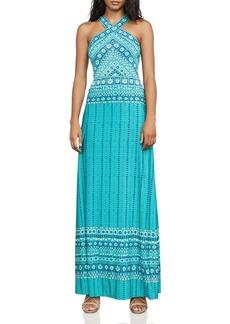 BCBGMAXAZRIA Lienna Cross-Front Maxi Dress