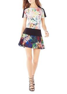 BCBGMAXAZRIA Lillian Printed A-Line Dress