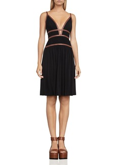 BCBGMAXAZRIA Lillie Strap-Detail Dress