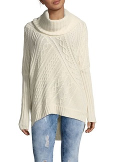 BCBG Max Azria Linden Cabled Cowlneck Sweater