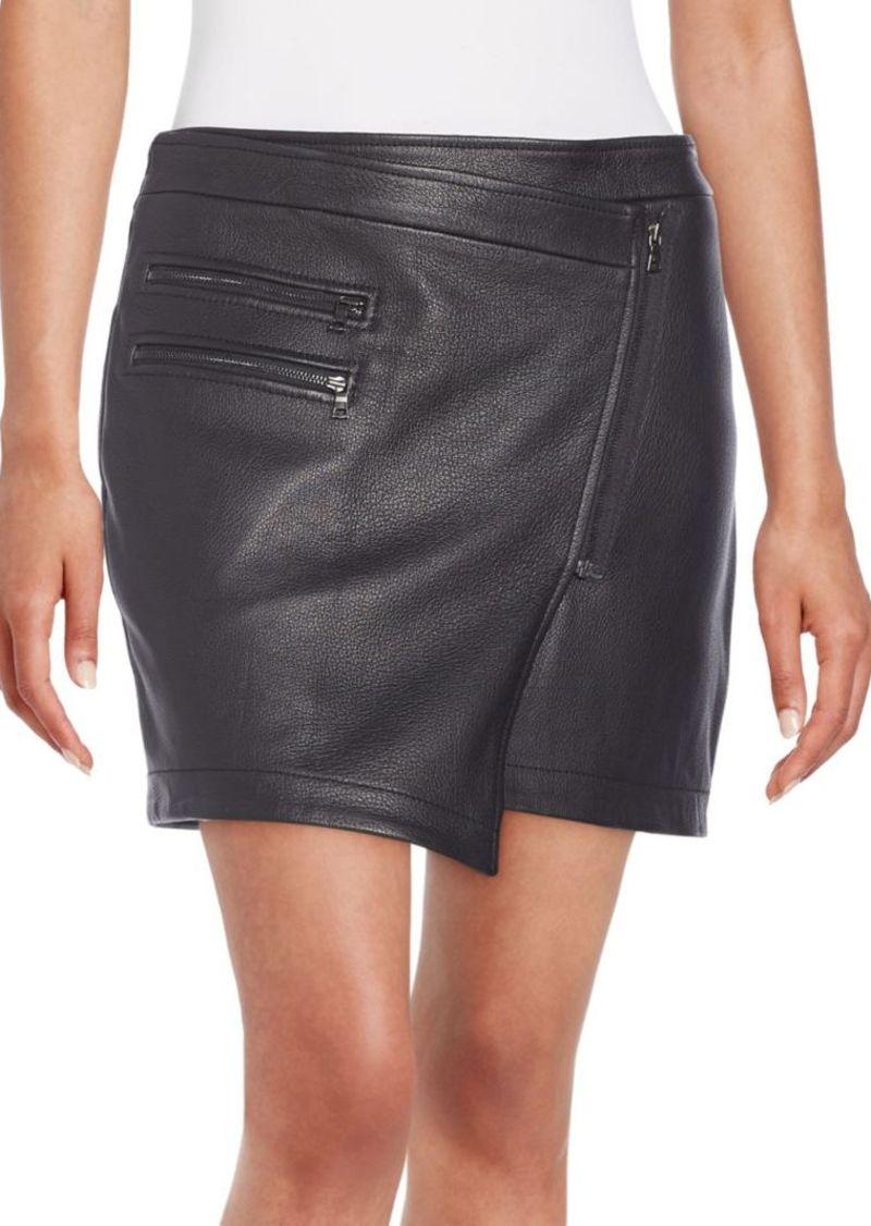 BCBG Max Azria BCBGMAXAZRIA Lizzy Leather Wrap Skirt | Skirts ...