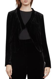 BCBG Max Azria BCBGMAXAZRIA Lloyd Asymmetric Velvet Jacket