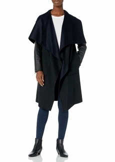 BCBG Max Azria BCBGMAXAZRIA womens Bcbgmaxazria Long Draped Coat Women s Outerwear   US