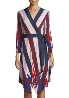 BCBG Max Azria BCBGMAXAZRIA Long-Sleeve Asymmetric Wrap Dress