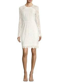 BCBG Max Azria Long-Sleeve Lace Sheath Dress