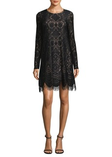 BCBG Max Azria BCBGMAXAZRIA Long-Sleeve Lace Shift Dress