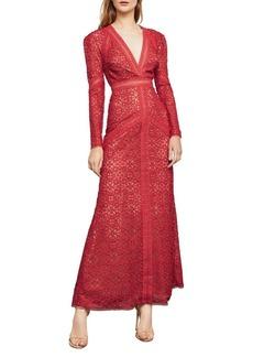 BCBG Max Azria BCBGMAXAZRIA Long-Sleeve Mosaic Lace Maxi Dress