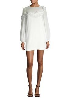 Long-Sleeve Ruffle Dress
