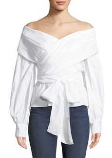 BCBG Max Azria BCBGMAXAZRIA Long-Sleeve Wrap Blouse