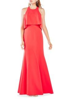BCBGMAXAZRIA Louella Bodice Overlay Gown
