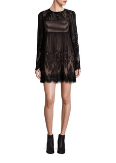 BCBG Max Azria BCBGMAXAZRIA Luann Lace Embroidered Shift Dress