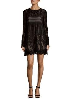 BCBGMAXAZRIA Luann Pleated Lace Dress