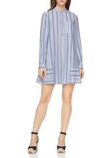 BCBGMAXAZRIA Lucile Striped Shirt Dress