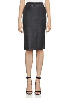 BCBG Max Azria Bcbgmaxazria Lyric Faux-Leather Pencil Skirt